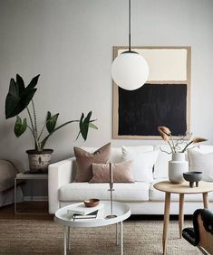 Minimal studio home - COCO LAPINE DESIGN - Expolore the best and the special ideas about Home interior design Home Living Room, Interior Design Living Room, Living Room Designs, Living Room Decor, Bedroom Decor, Flat Interior Design, Nordic Living Room, Monochrome Interior, Scandinavian Interior Design