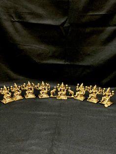 Ashta(Eight) Lakshmi Statues,3inches, Brass Eight Forms of Lakshmi Statue, Diwali Puja idol, Eight forms of Wealth, Ashtalakshmi Figurines by Shivajiarts on Etsy