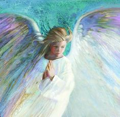 Portrait of Angel in White - Angel - The Sanctuary: The Art of Nancy Noel I Believe In Angels, Prophetic Art, Angel Pictures, Angel Images, Angels Among Us, Angels In Heaven, Heavenly Angels, Guardian Angels, Angel Art