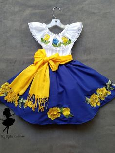 vestidos mexicanos ninas y adulto for Sale in Riverside, CA - OfferUp Mexican Style Dresses, Mexican Outfit, Girls Party Outfits, Kids Outfits, Cute Outfits, Cute Girl Dresses, Little Girl Dresses, Vestido Charro, Traditional Mexican Dress