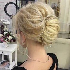 Chignon hairstyle #chignon #weddinghair #upstyle #hairdo