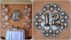 Balloon number wreath. Birthday Anniversary party. Great for any event or celebration.