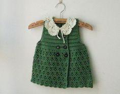 Verde Niñas Crochet bebé Faldas primavera
