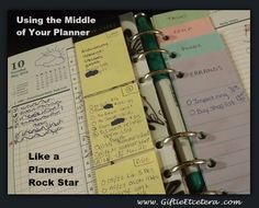 Giftie Etcetera: Maximizing the Power of the Middle of the Planner; To Do Lists; Tasks; How to Use a Paper Planner