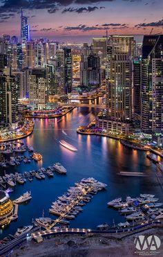 Dubai Marina by Mohamed Alwerdany