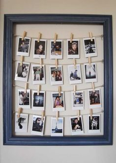 If you are a teenager then you must be having lots of photographs that are close to your heart. So take a reclaimed wood frame and hammer a few nails on the inside of that frame as shown here. Tie a jute twine and you are all set to hang your favorite photographs.