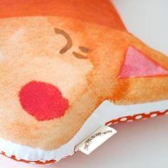 Fox Cushion. #watercolours #fox #foxlove #cushion