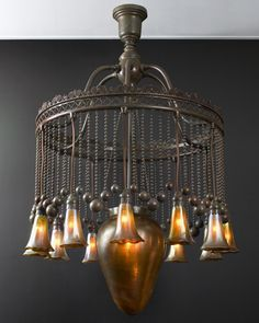 Moorish art nouveau chandy, Tiffany