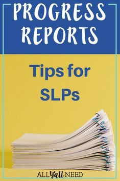 "It's that time of the year. Therapy referrals are on a steady pace, it feels like whatever ""balance"" is might actually be achievable, and then the REMINDER on the calendar pops up - END OF REPORTING PERIOD. To help with your sanity, and to keep people from wondering why the SLP is speechless, we've rounded up a few tips to help SLPs get through progress reports.