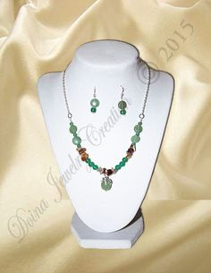 Aventurine, Red Agate chips via DJC - Handmade jewelry. Click on the image to see more!