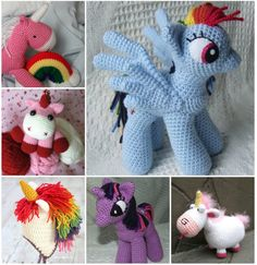 Unicorn Crochet - cute. My granddaughters LOVE my little pony.