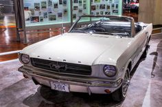April 17, 1964: Ford Mustang introduced at New York World's Fair. The same day, 22,000 were sold in showrooms. Within 18 months, over a million had been sold. The Mustang in the photo is the first one to roll off the assembly line and is now on display at the Henry Ford Museum in Dearborn. Photo by Alvintrusty, published under the Creative Commons Attribution license.