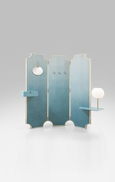 Screen/ vanity/ for the dressing area Folding Screen Room Divider, Partition Screen, Room Screen, Shelf Furniture, Design Furniture, Dressing Screen, Dressing Area, Interior And Exterior, Interior Design