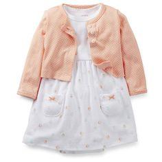 2-Piece Dress & Cardigan Set | Carters.com 3m for fall