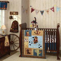 baby boy cowboy horse pony western quilt babies crib nursery newborn