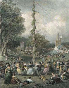 The Mythology of May Day III: Maypoles and their Rituals James Frazer, Morris Dancing, Solar System Crafts, Green Witchcraft, Magic Design, Vernal Equinox, Doll Divine, May Days, School Fundraisers