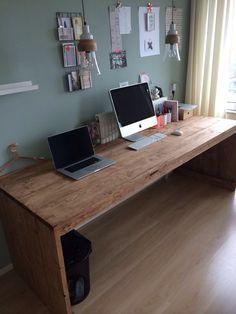 Computer Desk Setup, Rustic Office, Office Setup, Garden Office, Work Desk, Home Studio, Home Office Design, Workspaces, Dream Decor