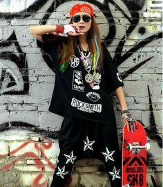Resultado de imagen para hip hop ropa mujer