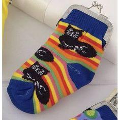 Cat Sock Purse