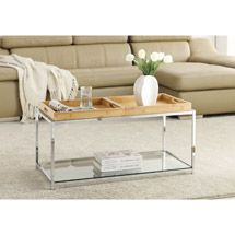 Walmart: Convenience Concepts Palm Beach Coffee Table with Trays, Multiple Finishes