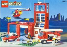LEGO 6571 Fire Station with Rescue Helicopter instructions displayed page by page to help you build this amazing LEGO Rescue set Lego City Fire Station, Lego Books, Lego Fire, Classic Lego, Lego Activities, Lego System, Vintage Lego, Lego Storage, Lego Birthday