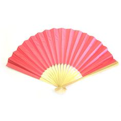 Pink Paper Folding Fans,  $0.99 each Would make cute party favors for a Japanese kokeshi party