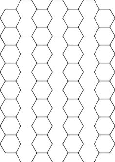 Tessellation with Hexagon coloring page