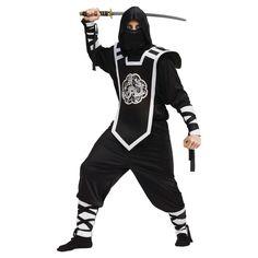 Men's Dragon Ninja Costume - One Size Fits Most, Black