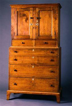 Shaker case piece, Probably Harvard, Massachusetts, circa 1840~♥~