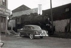 CPR 807 at foot of Princess Street, 1954.