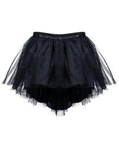 Jupon gonflant noir 60cm asymétrique pour jupe ou robe gothique, victorienne ou steampunk