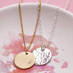 Personalised Initial Disc Necklace from notonthehighstreet.com