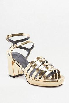 Dream gold disco shoes