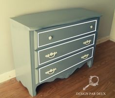 Gray Painted Dresser