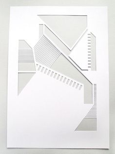 Cut paper by Sarah Louise Matthews. Collage or paper engineering? Origami, Paper Architecture, Paper Engineering, Paper Cutting, Cut Paper, Paper Design, Geometric Shapes, Paper Art, Book Art
