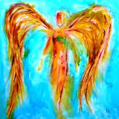 """ANGEL PAINTINGS AND ANGEL ART Title: """"Jehoel""""   Visit our page at http://www.ivanguaderrama.com/ Buy Angel Art Prints   http://fineartamerica.com/profiles/ivan-guaderrama-art-gallery.html"""