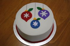 2012 Christmas Cakes, via Flickr. Christmas Cake Designs, Christmas Cake Decorations, Christmas Cakes, Christmas Baking, Xmas Cakes, Simple Christmas, Christmas Ideas, Fondant, Pastry Cake