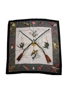 HERMES SCARF Silk Fusils by Henri de Linares by lesclodettes