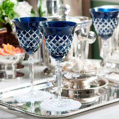 Taça de Água Ametista Azul Marinho