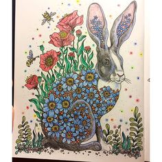 Inspired by my rabbit Astrid :) #dagdrömmar #colouringbook #adultcolouring…