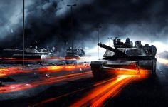 Wallpaper battlefield 3, war, tanks, road, smoke wallpapers games - download