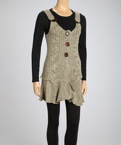 Oatmeal Wool-Blend Tunic - Women