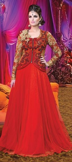 12d0a77abb0 430534 Red and Maroon color family Party Wear Salwar Kameez in Georgette
