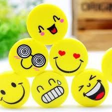 Emoji Smile Rubber Pencil Eraser Office or Students Stationery Cute Cartoon Faces, Cute Smiley Face, Girl Cartoon, Smiley Faces, Smileys, Gadgets, Pencil Eraser, Cute School Supplies, Office Supplies