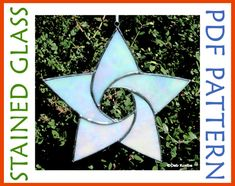 Stained Glass Star Pattern 5 Point Curved Star Suncatcher PDF. $4.00, via Etsy.