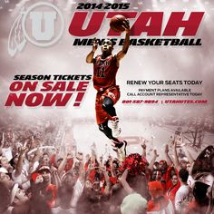 Utah Men's Basketball Season Ticket Renewal Graphics (2014-2015). Sports layouts and graphic design
