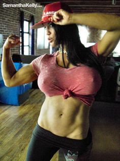I Love Busty Fitness Babe Samantha Kelly! Muscle Girls, Fitness Inspiration, Bikinis, Swimwear, Have Fun, Fitness Motivation, Athletic, Sexy, Model