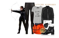 """Katniss Everdeen (The Hunger Games)"" by claucrasoda ❤ liked on Polyvore featuring Allurez, Rebecca Minkoff, Hadaki, Quay, Rick Owens, Acne Studios and patentleather"