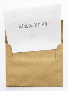 It's time to say thank you to all of your lovely guests! : : : : : : : : : : : : : : : : PAPER & COLORS : : : : : : : : : : : : : : :  PAPER: Cards