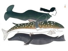 (my dreams of swimming with whales have not stopped) Unknown Inuit Mermaid